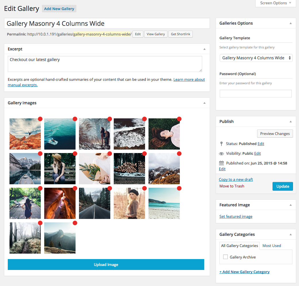 Gallery Admin